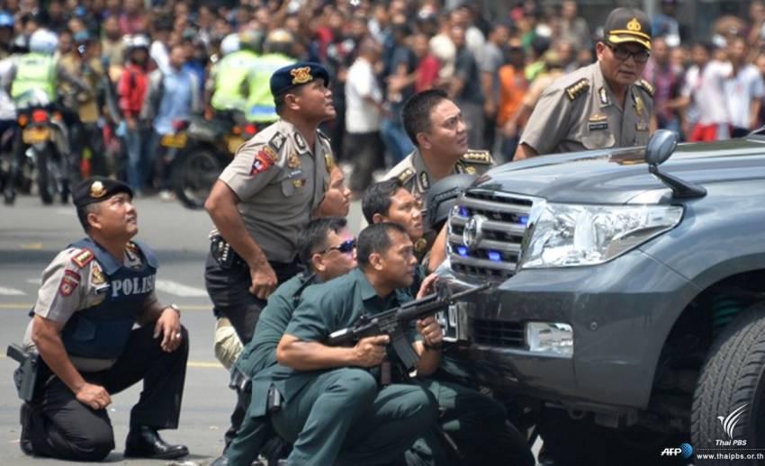 เกิดเหตุระเบิด-ยิงปะทะหลายจุดในกรุงจาการ์ตา อินโดนีเซีย พบผู้เสียชีวิตอย่างน้อย 6 คน