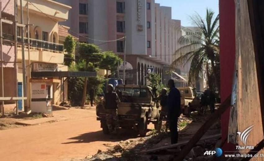 สลดคนร้ายยิงถล่มในรร.เรดิสันประเทศมาลี เสียชีวิต 3 จับ 170 คนเป็นตัวประกัน-ยังวิกฤต