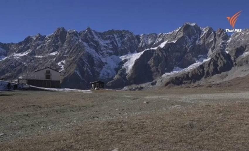 คลื่นความร้อนในอิตาลีกระทบธุรกิจเล่นสกีหิมะ