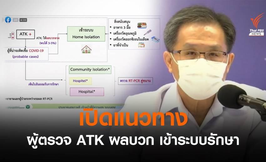 เปิดแนวทางส่งตัว ATK ผลบวกเข้าดูแลในระบบ แก้ปัญหารักษาล่าช้า